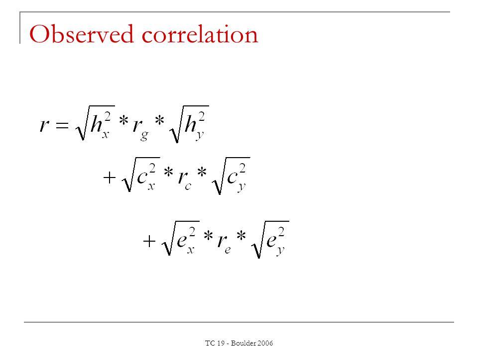 TC 19 - Boulder 2006 Observed correlation