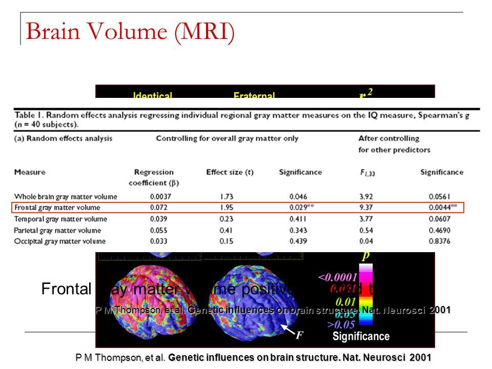 TC 19 - Boulder 2006 P M Thompson, et al.Genetic influences on brain structure.