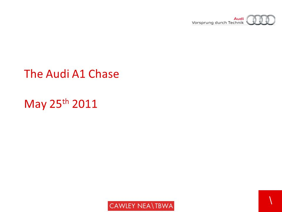 \ The Audi A1 Chase May 25 th 2011