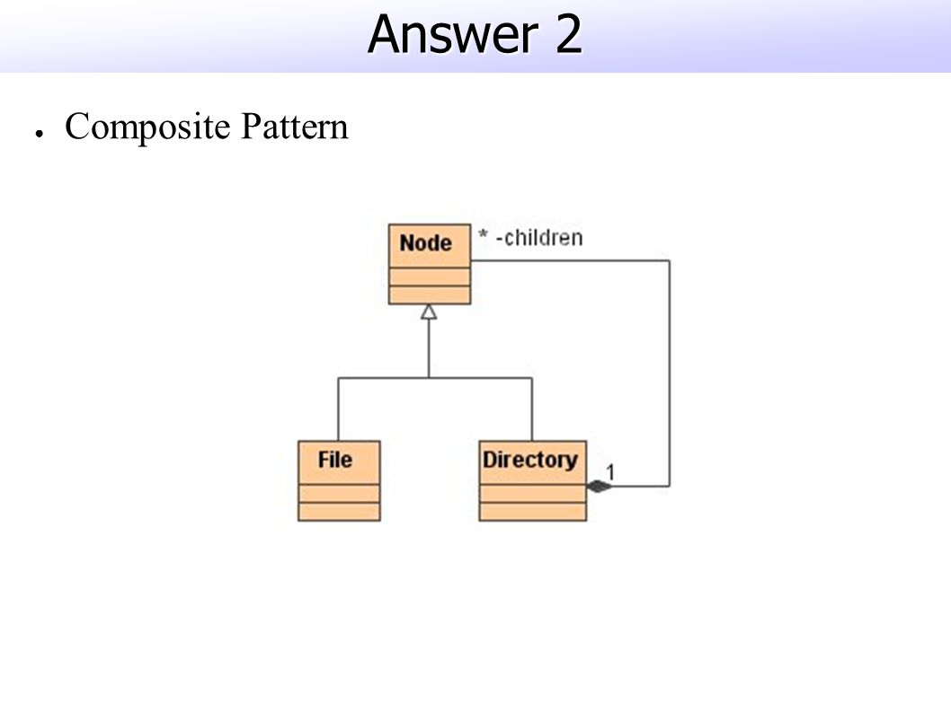 Answer 2 ● Composite Pattern