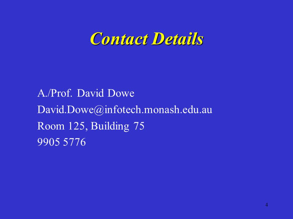 4 Contact Details A./Prof.