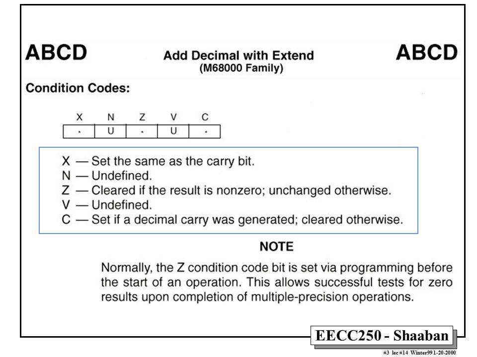 EECC250 - Shaaban #3 lec #14 Winter99 1-20-2000