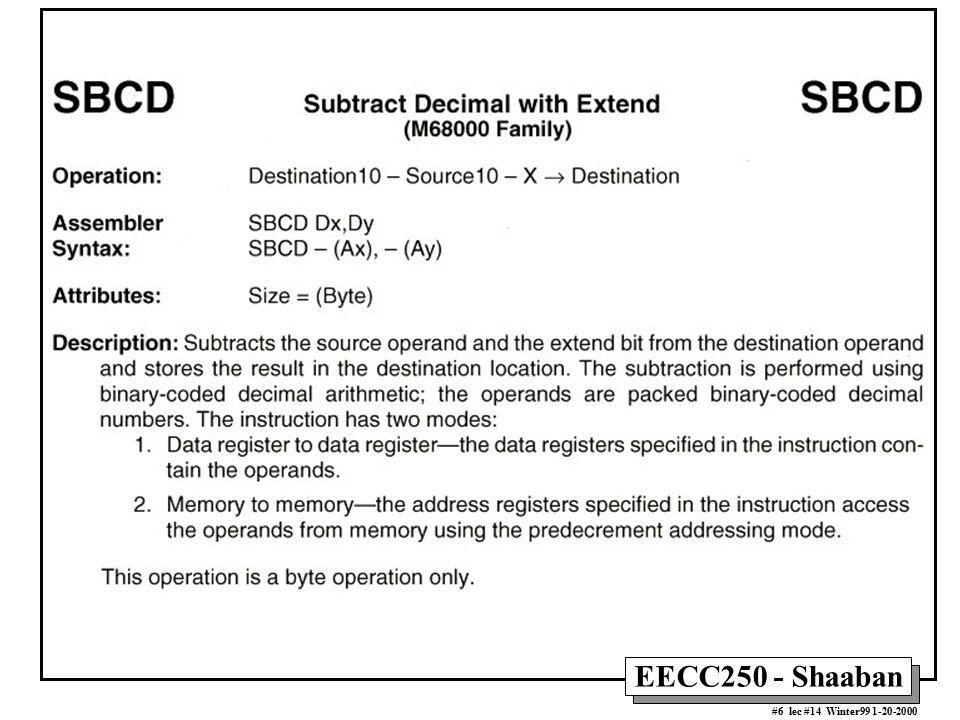 EECC250 - Shaaban #17 lec #14 Winter99 1-20-2000