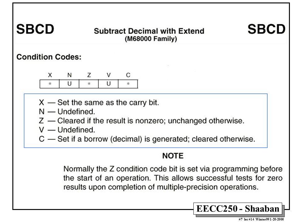 EECC250 - Shaaban #7 lec #14 Winter99 1-20-2000