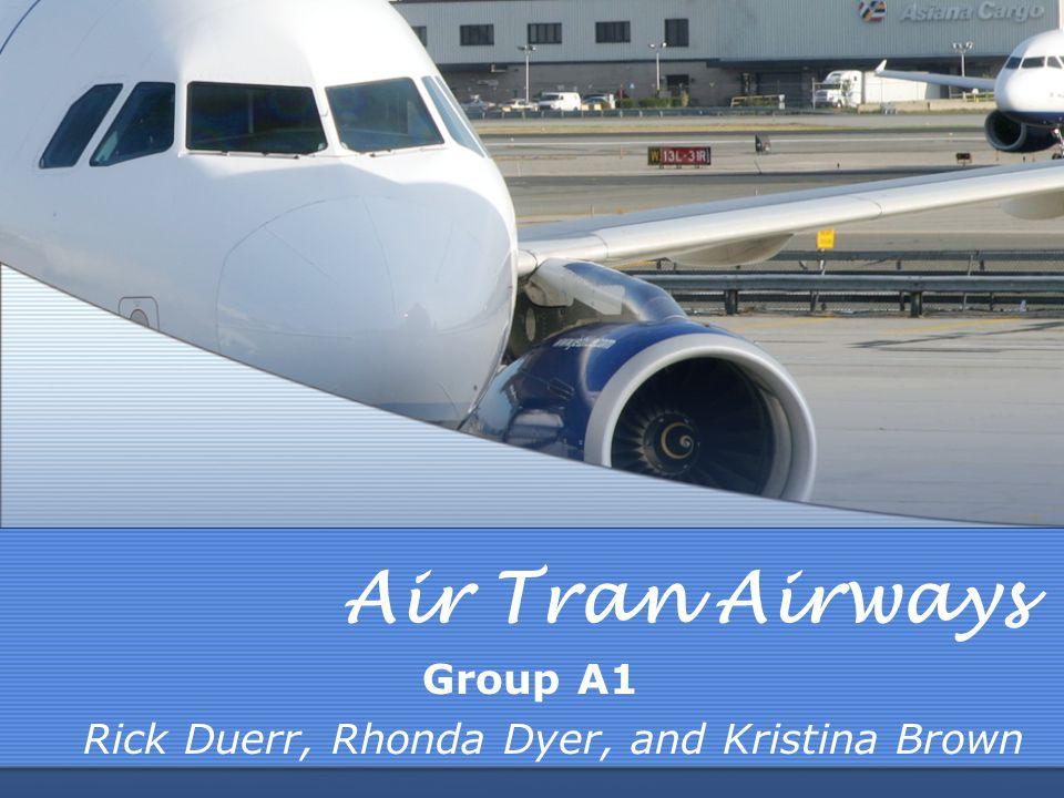 Air Tran Airways Group A1 Rick Duerr, Rhonda Dyer, and Kristina Brown