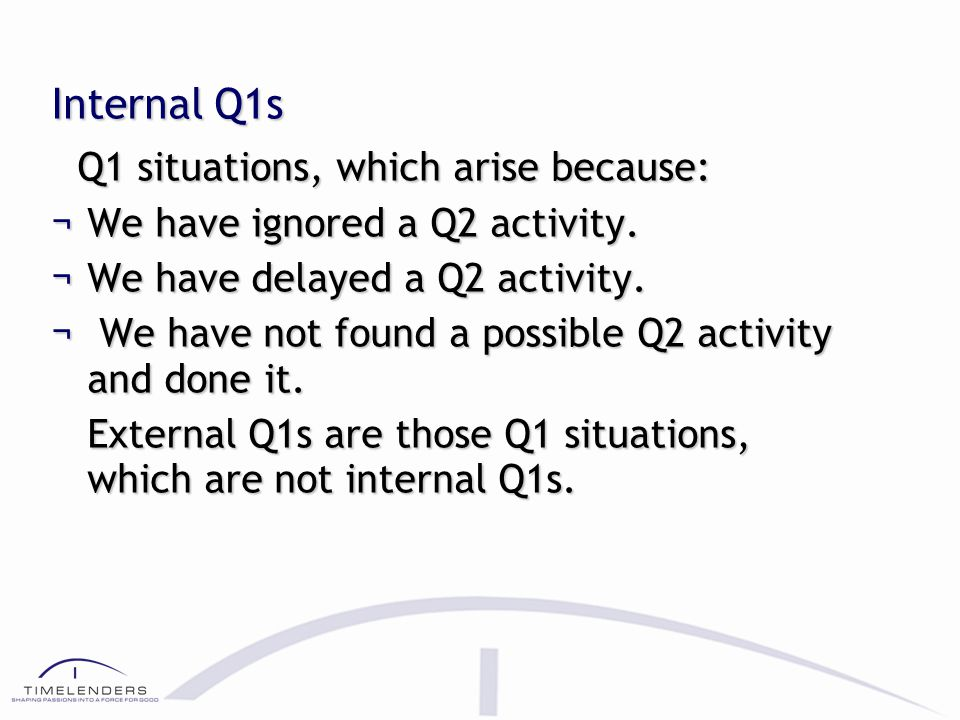 Marginal Q2 A Q2 activity which has been initiated within the space of its buffer is called marginal Q2. 6-15