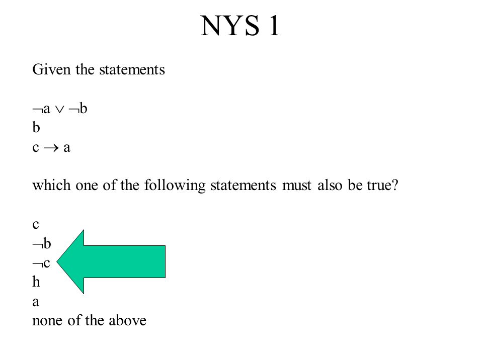 Simple Selection Task ET47 Suppose I claim that the following rule is true.