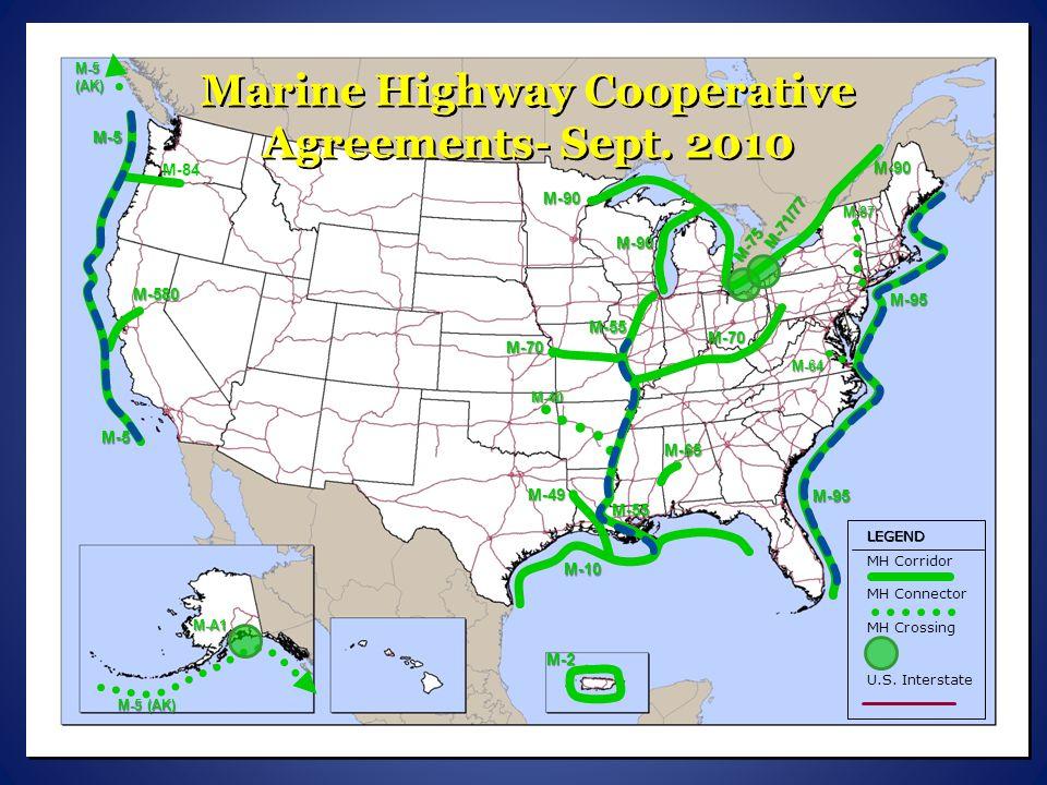 M-5 M-95 M-10 M-90 M-70 M-55 M-5 (AK) M-71/77 M-65 M-40 M-49 M-87 M-64 M-A1 M-75 M-84 M-580 Marine Highway Freight Services – Nov.