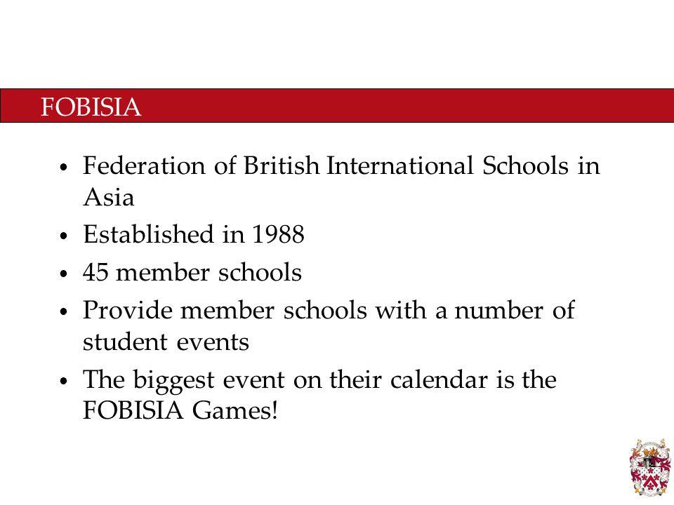 A1 Primary FOBISIA Games The Primary Fobisia Games are split into several divisions.