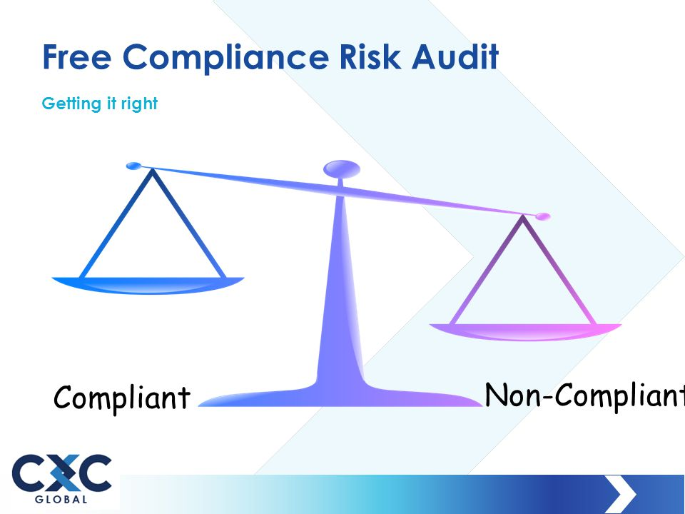 Free Compliance Risk Audit Getting it right Compliant Non-Compliant
