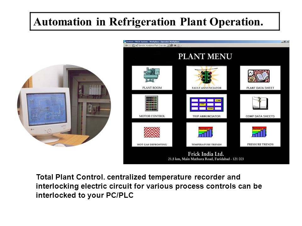 Automation in Refrigeration Plant Operation. Total Plant Control.