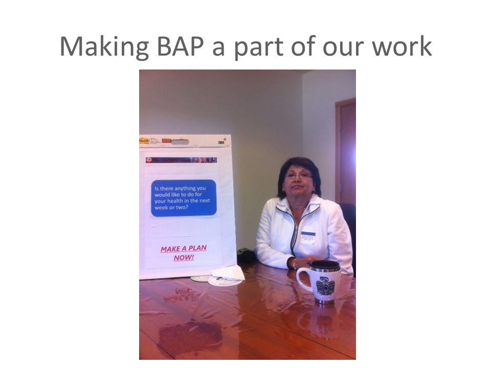 Making BAP a part of our work