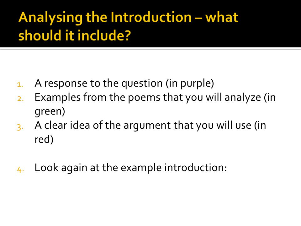 1. A response to the question (in purple) 2.
