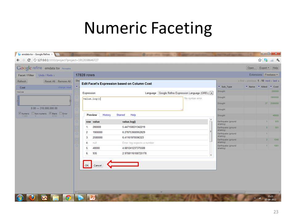 Numeric Faceting 23