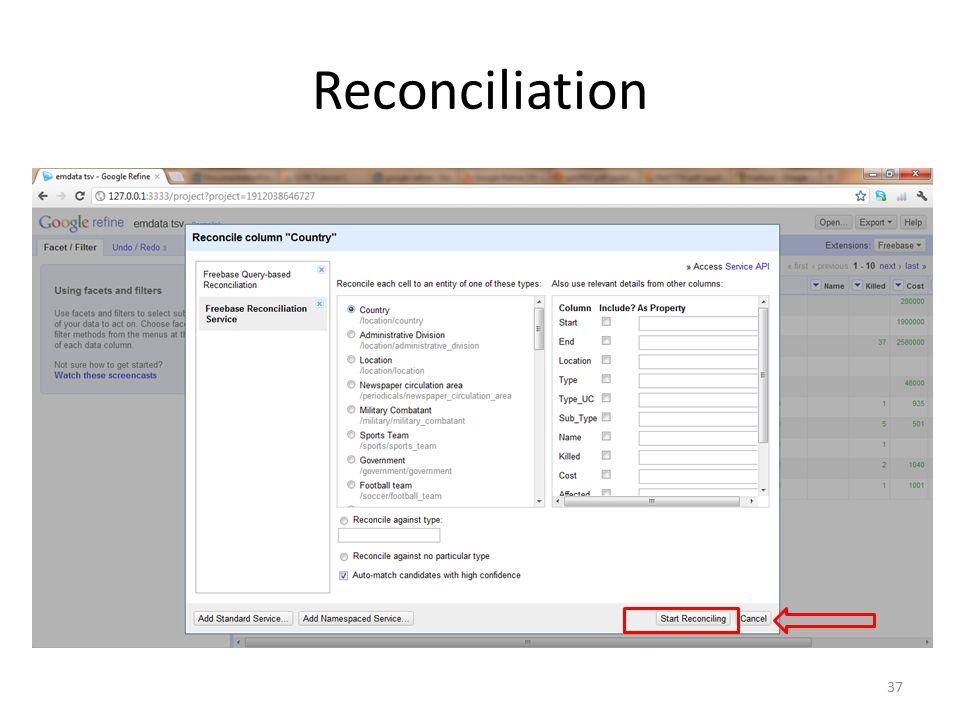Reconciliation 37