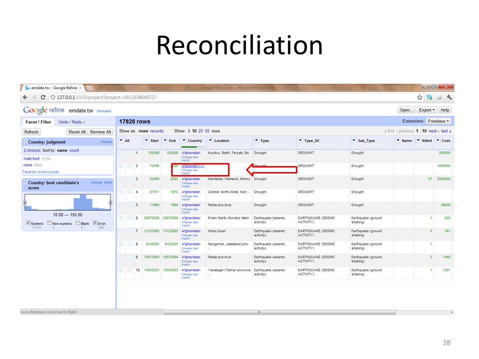 Reconciliation 38