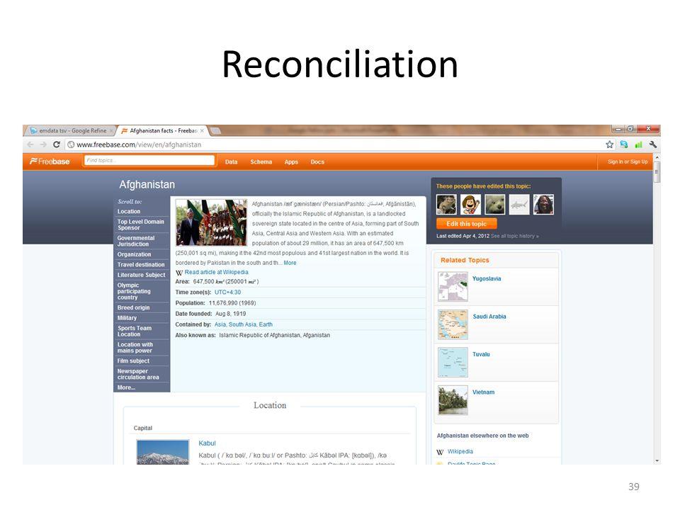 Reconciliation 39