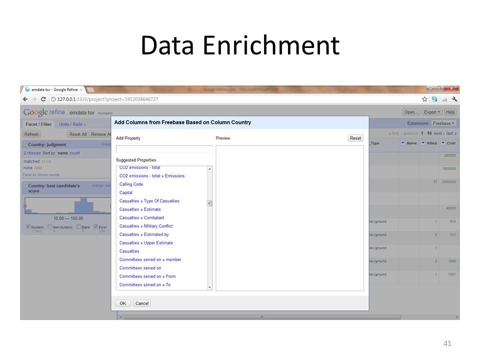Data Enrichment 41