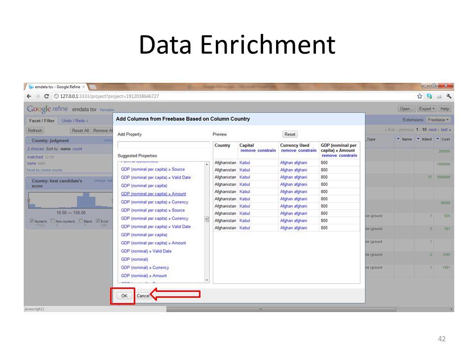 Data Enrichment 42