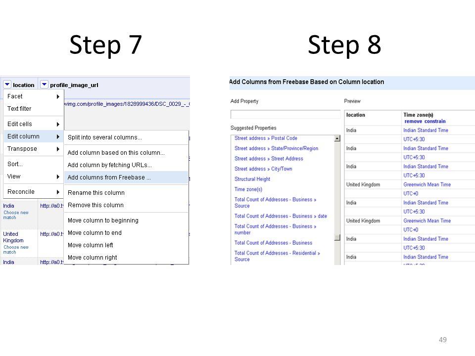 Step 7 Step 8 49