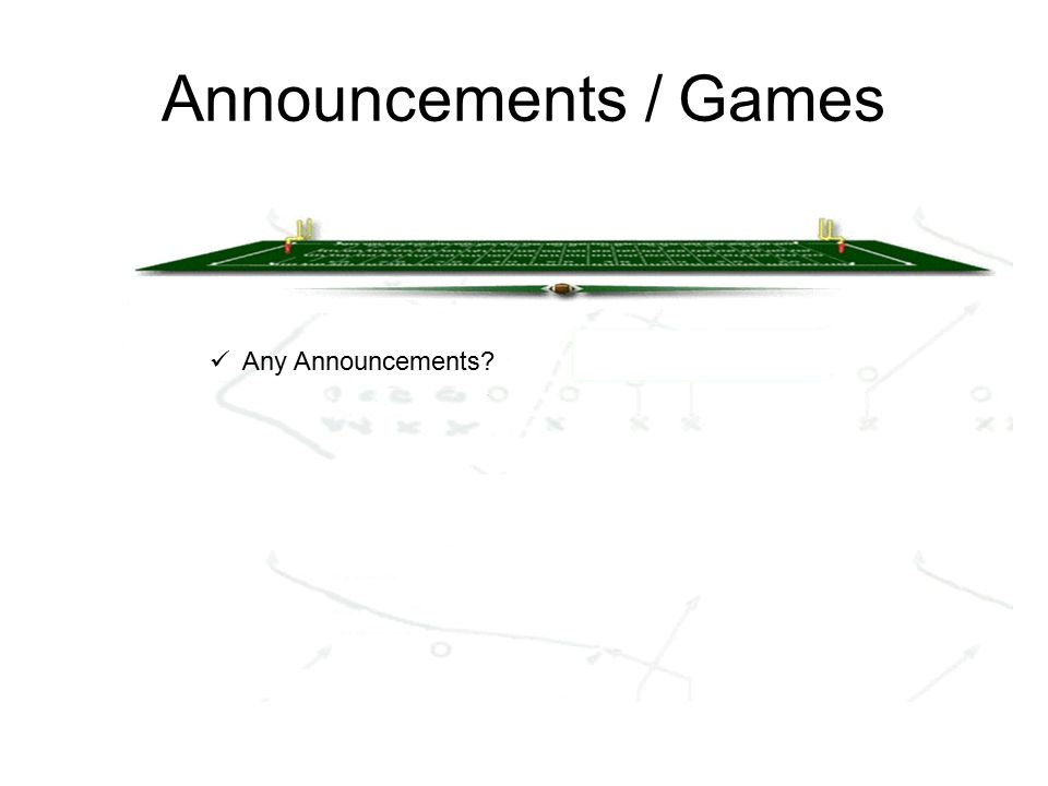 Announcements / Games Any Announcements