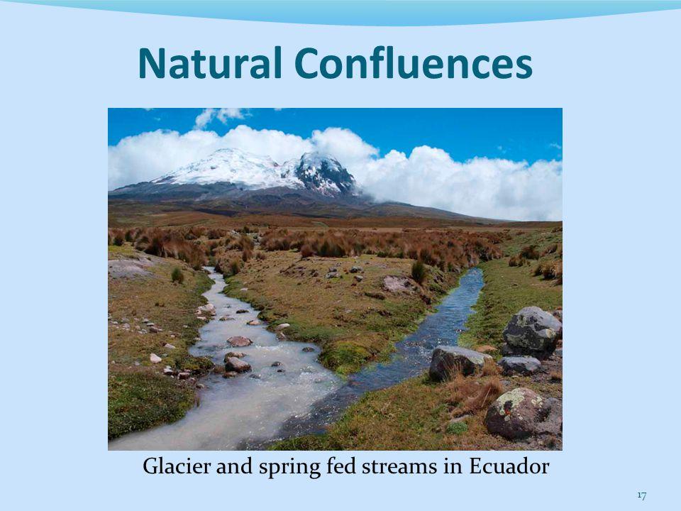 17 Glacier and spring fed streams in Ecuador Natural Confluences