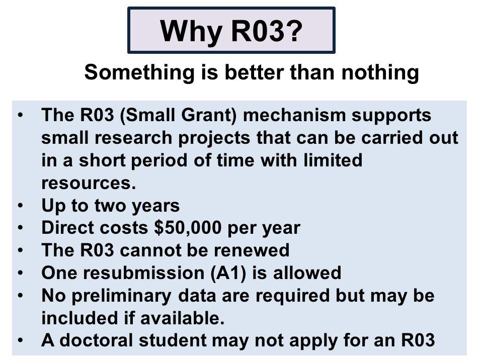 Why R03.
