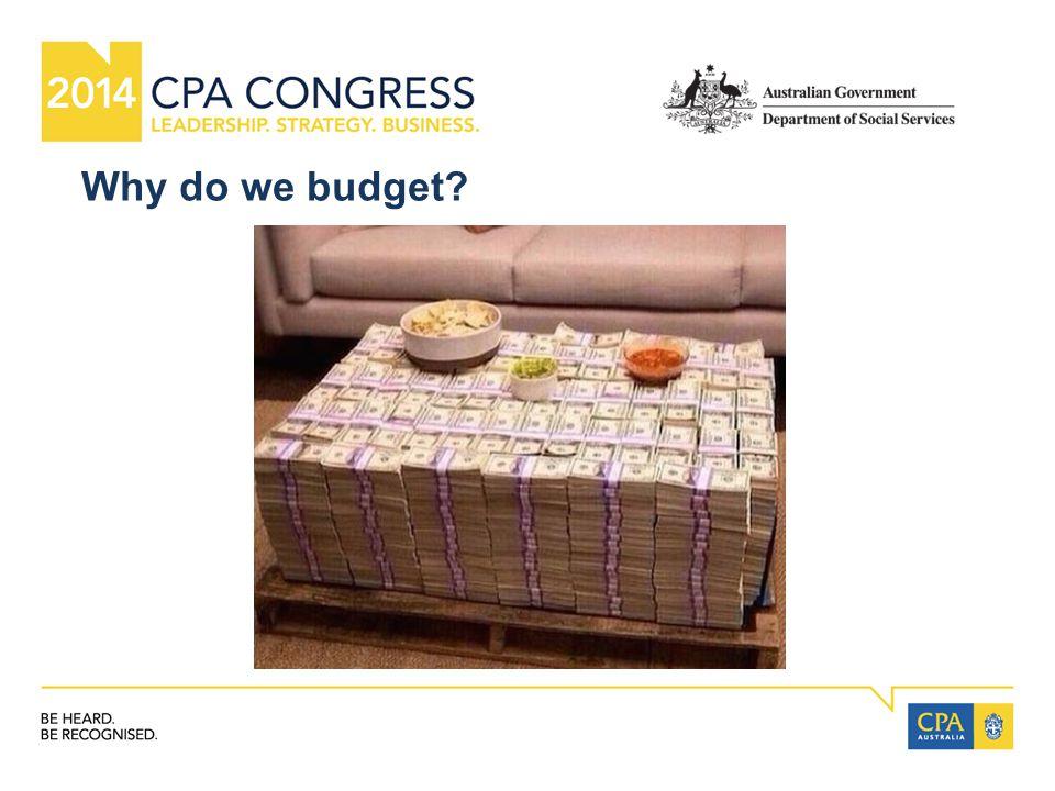 Why do we budget