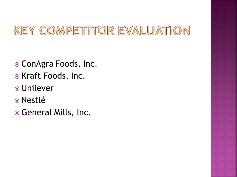  ConAgra Foods, Inc.  Kraft Foods, Inc.  Unilever  Nestlé  General Mills, Inc.