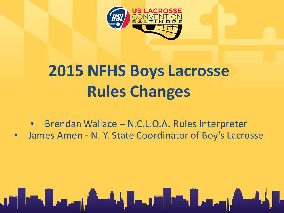 NFHS Boys Lacrosse Rules Committee