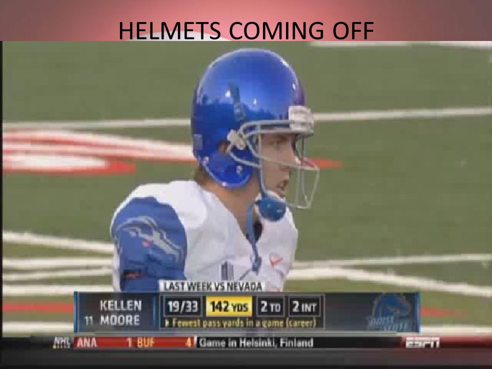 HELMETS COMING OFF