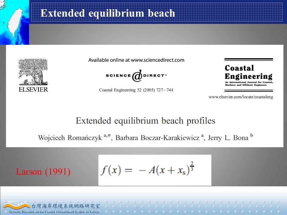 19 Extended equilibrium beach Larson (1991)