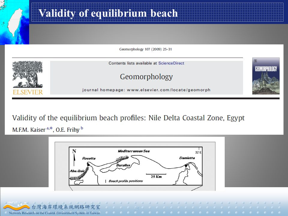 25 Validity of equilibrium beach