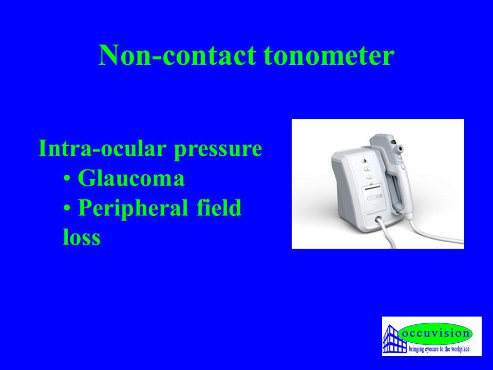 Non-contact tonometer Intra-ocular pressure Glaucoma Peripheral field loss