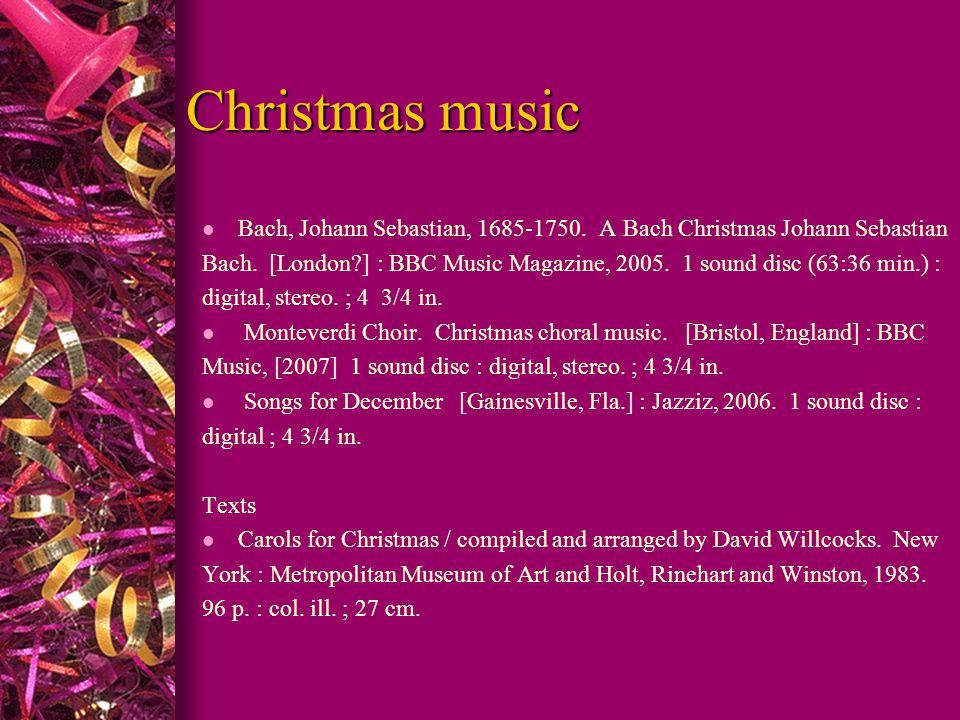 Christmas music l Bach, Johann Sebastian, 1685-1750.