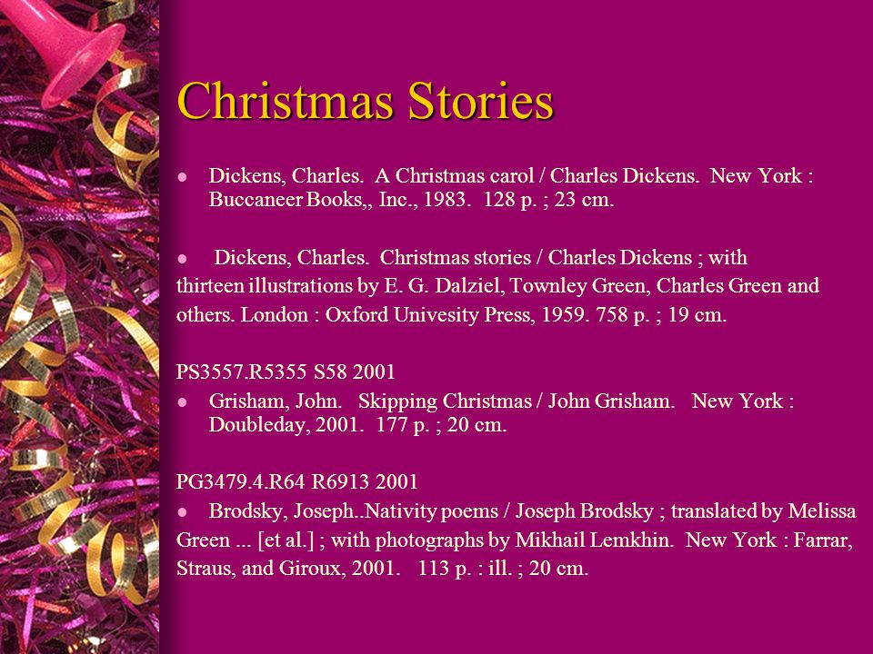 Christmas Stories PS3117.F5 1956 l Van Dyke, Henry.