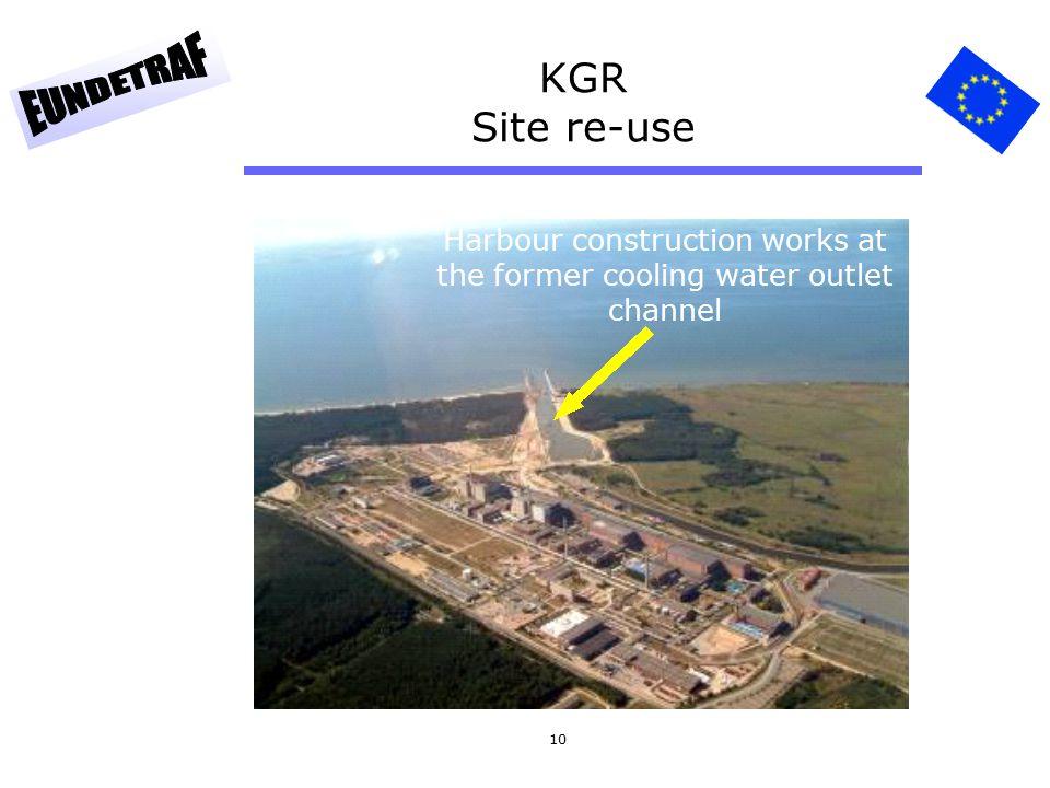 10 KGR Site re-use Harbour construction works at the former cooling water outlet channel