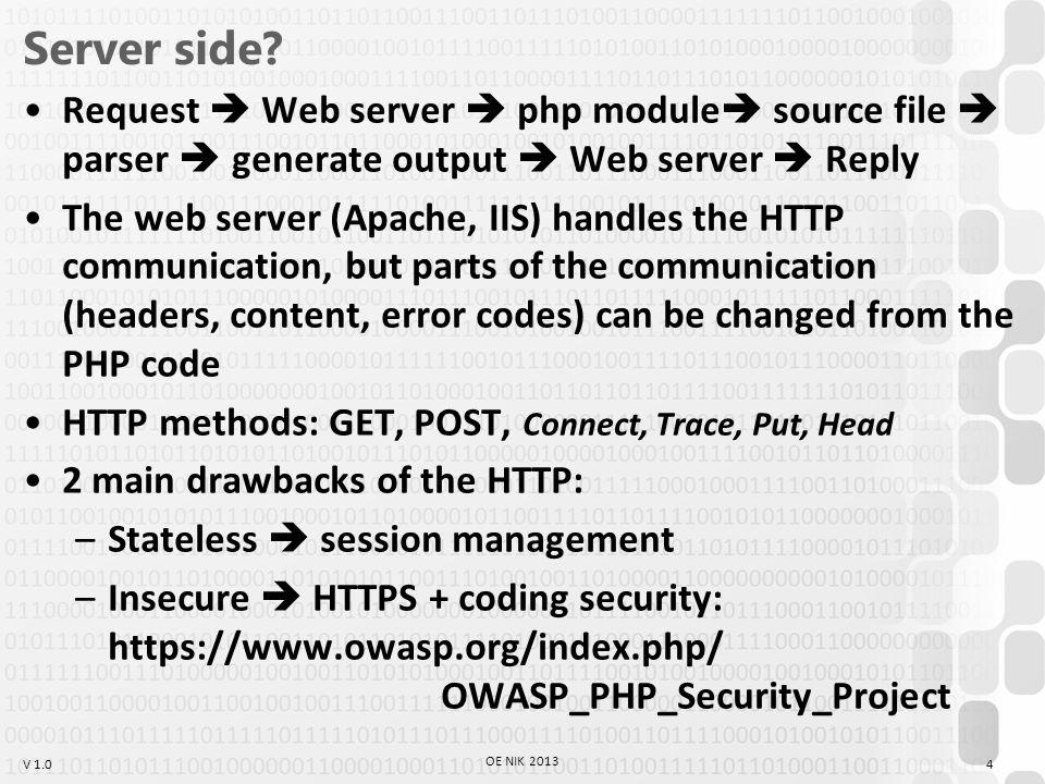 V 1.0 Server side.