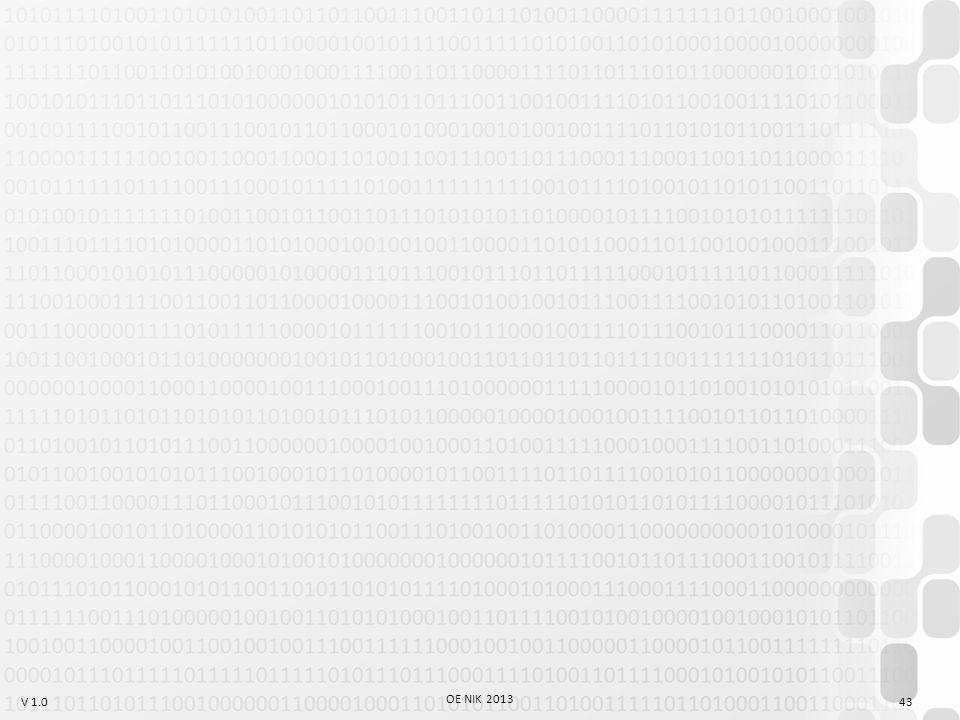 V 1.0 OE NIK 2013 43