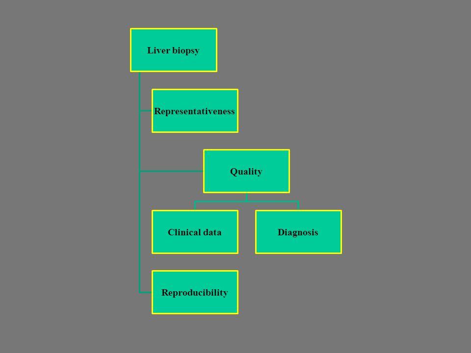 Liver biopsy Representativeness Quality Clinical dataDiagnosis Reproducibility