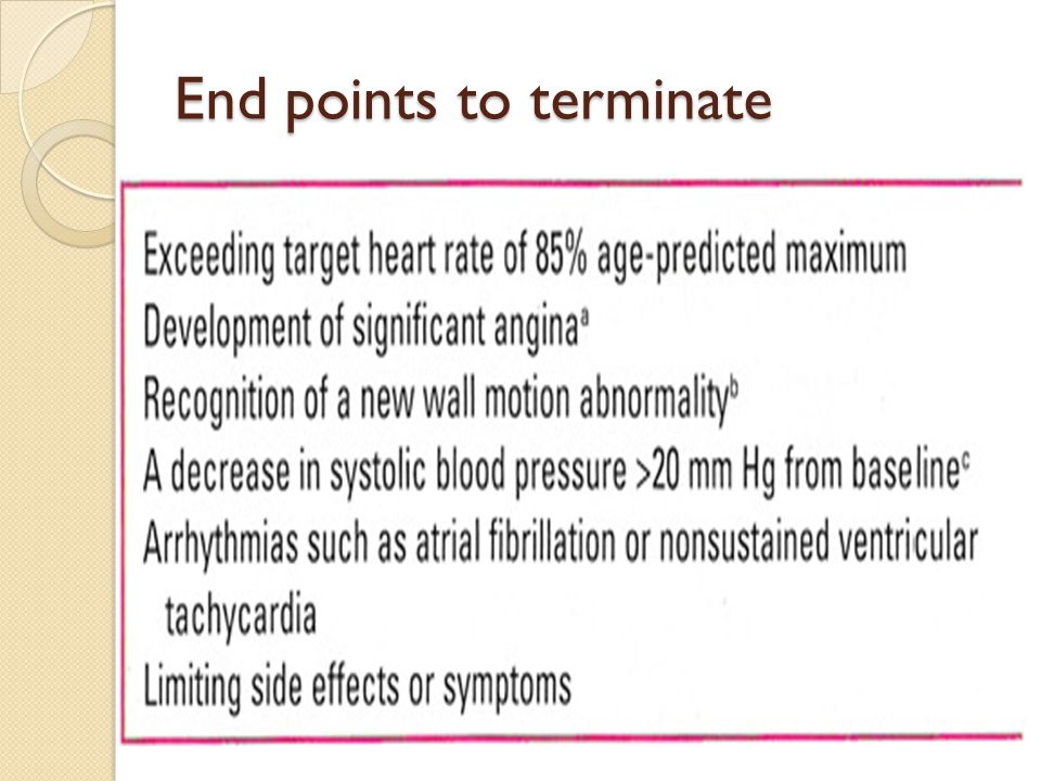 End points to terminate
