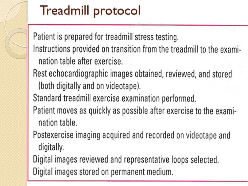 Treadmill protocol