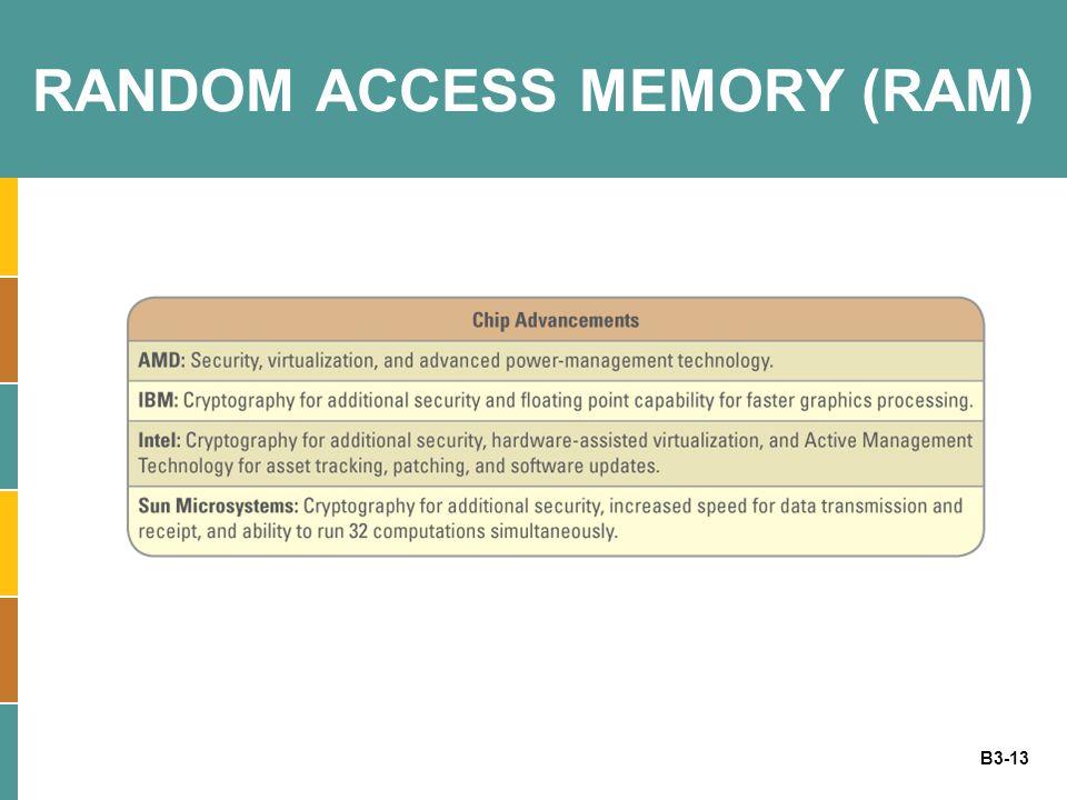 B3-13 RANDOM ACCESS MEMORY (RAM)
