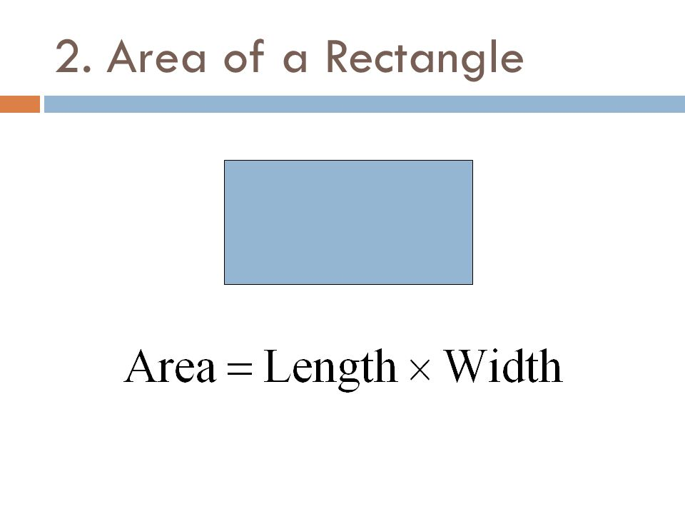 2. Area of a Rectangle