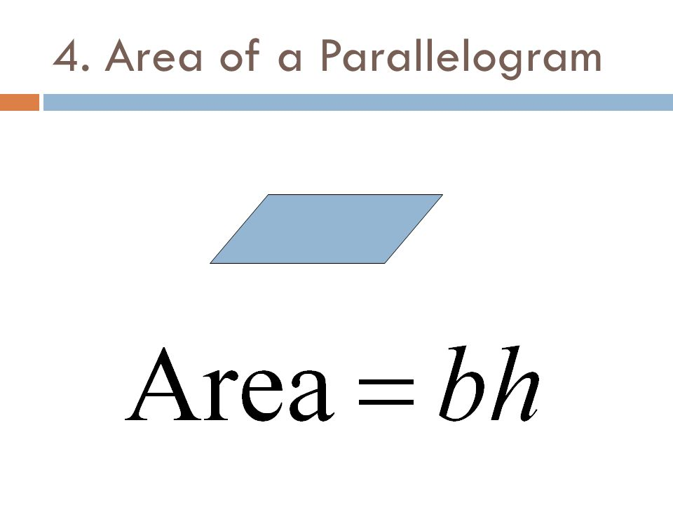 4. Area of a Parallelogram