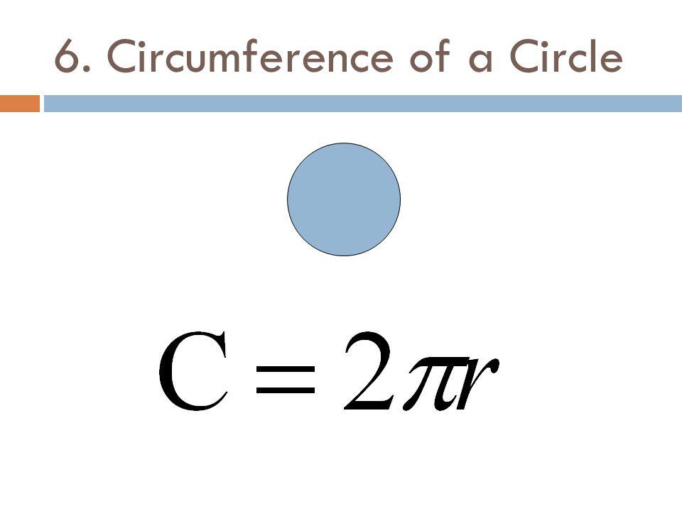 6. Circumference of a Circle
