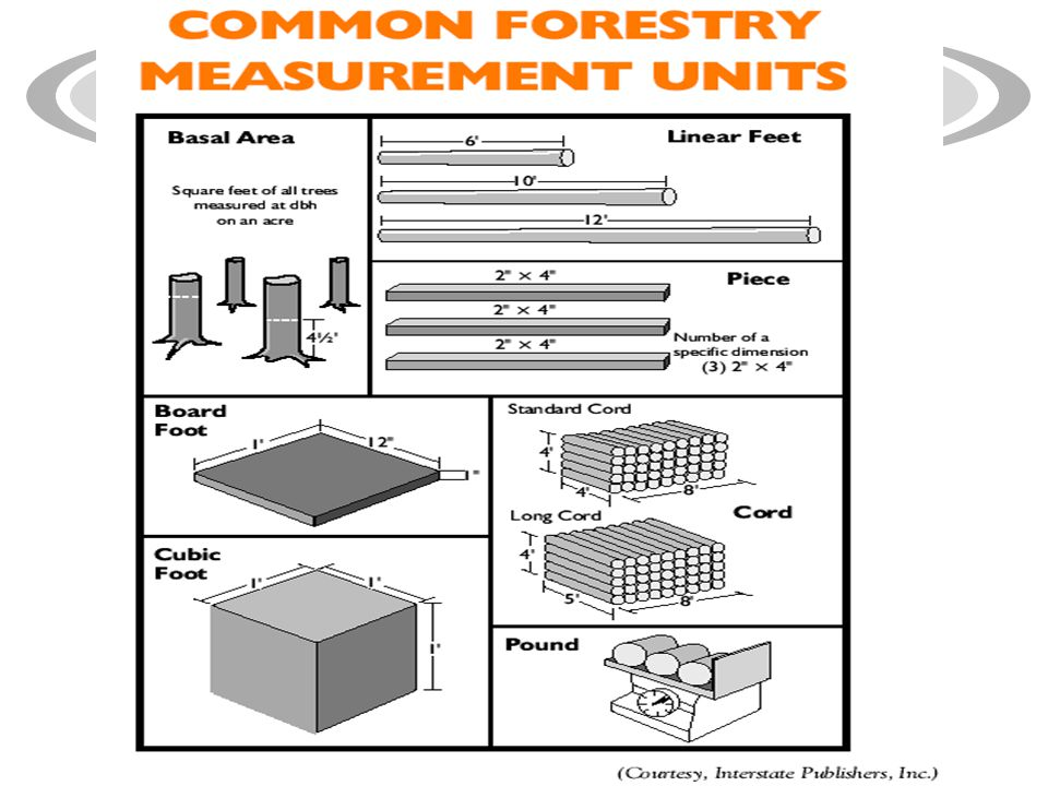 Common Units of Measure Used in Forestry.