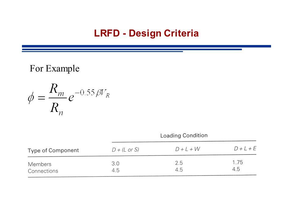 LRFD - Design Criteria For Example