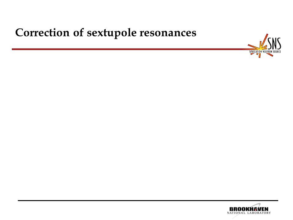 Correction of sextupole resonances