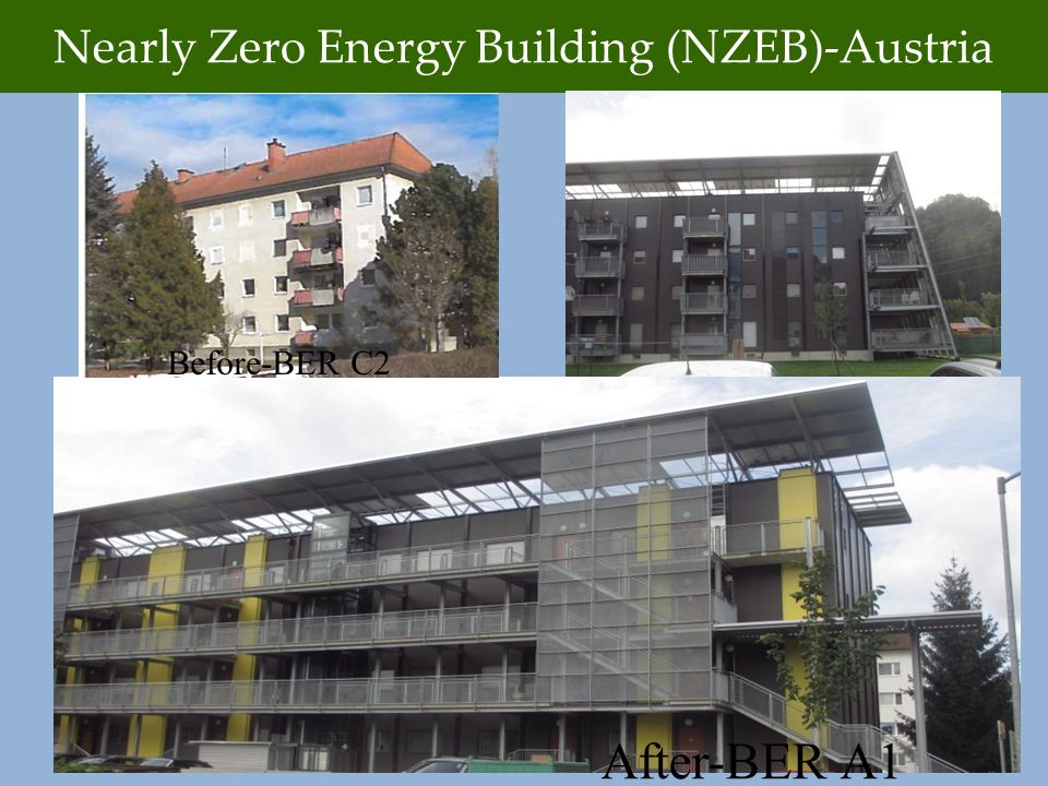 Nearly Zero Energy Building (NZEB)-Austria Before-BER C2 After-BER A1